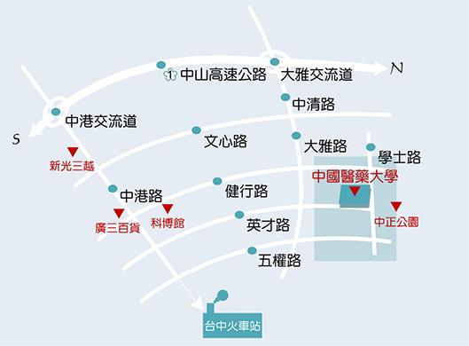 台中校本部交通地圖(點圖放大)