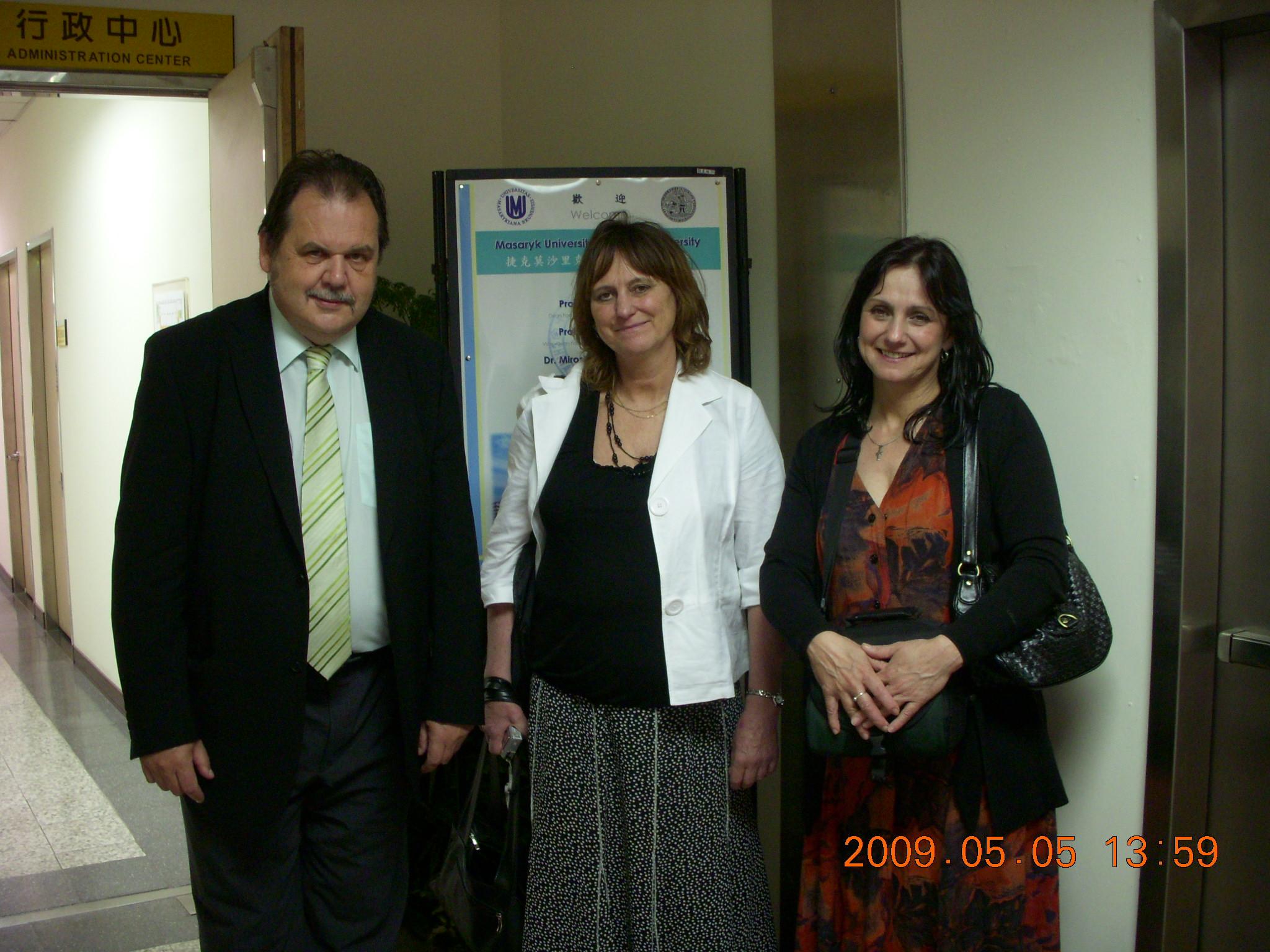 Group photo: Prof. Jan Žaloudík, Prof. Eva Táborská and Prof.  MiroslavaSkovajsova (from left to right).