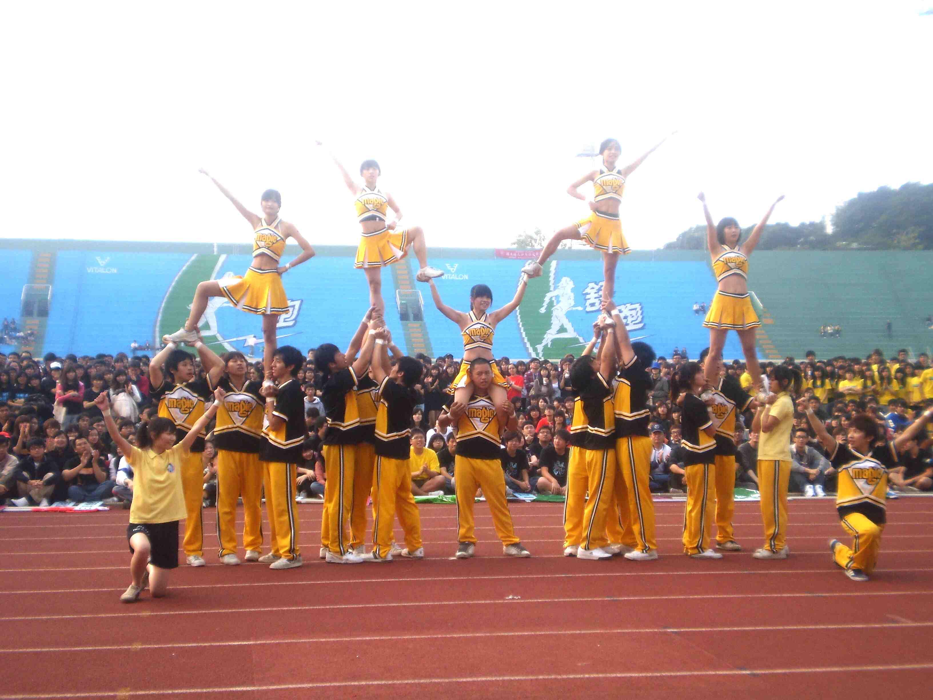 表演活动之一~竞技啦啦队图片