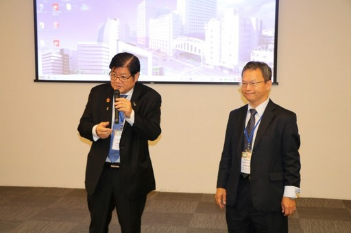 President Hung delivering welcome remarks