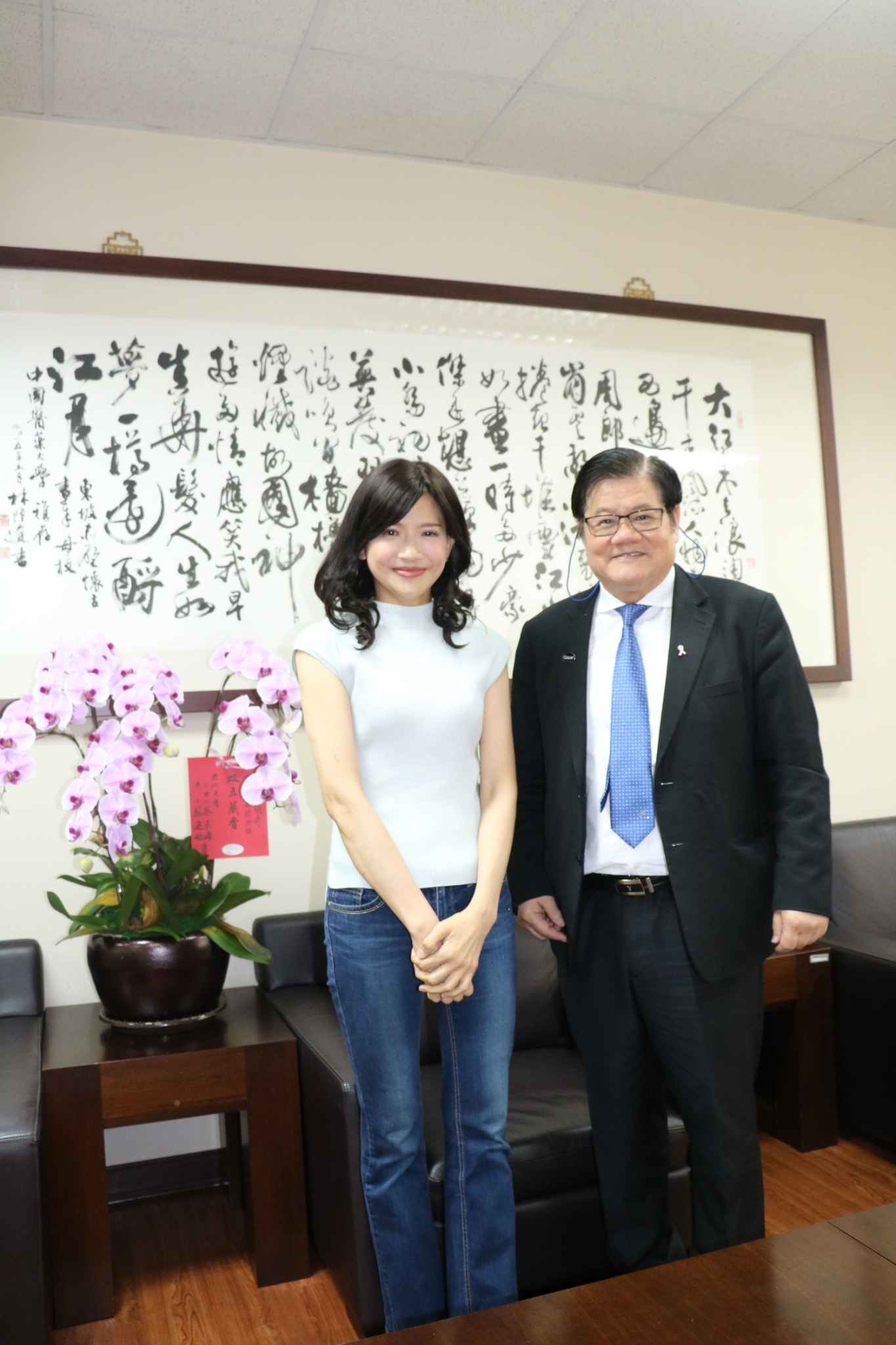 President Mien-Chie Hung and Associate Professor Hsin-Ju Kuo