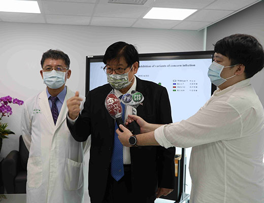 「An Anti-corona Chinese Medicine has been Developed! CMU President Mien-Chie Hung and Research Team Announce Research Findings on the Inhibitions of Variants」新聞封面圖